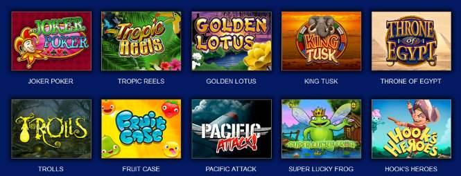 Каталог игровых автоматов
