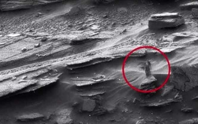 Таинственное существо заснял марсоход