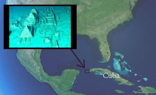 Подводный город с пирамидами у берегов Кубы