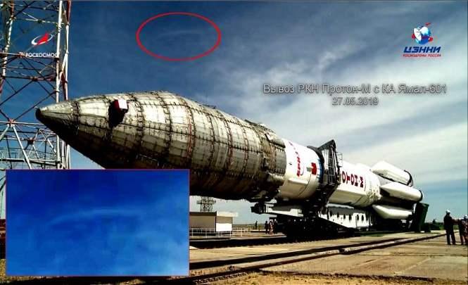Корабль Союз обстреляли инопланетяне?