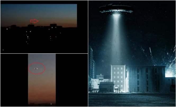 Над Самарой пролетел корабль пришельцев