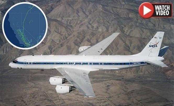 Разлом Сан-Андреас сканирует загадочный самолет