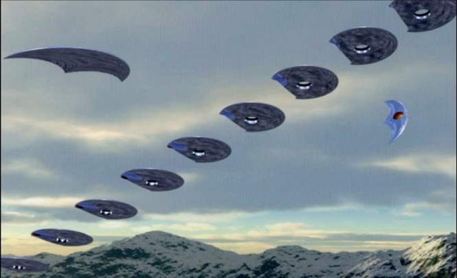 Флотилию НЛО заметили над Техасом