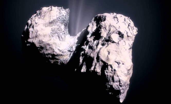 НЛО взлетел с кометы Чурюмова-Герасименко