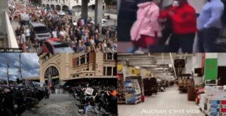 Франция продолжает шокировать мир видеороликами, а в Австралии уже драки с полицией.