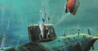 Советская подводная лодка, которая лежит на дне уже более 30 лет. (Видео)
