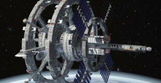Гигантская инопланетная станция в космосе