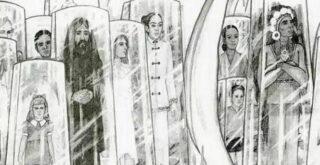 НЛО, подводная база и люди в стеклянном контейнере